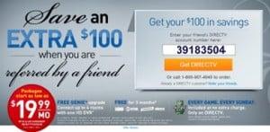 Directv $100 coupon